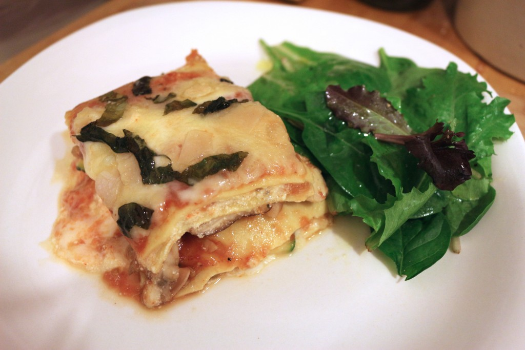 vegetable lasagne…